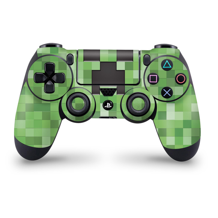 Pixel Creeper Ps4 Controller Skin Minecraft Inspired Pixel Art