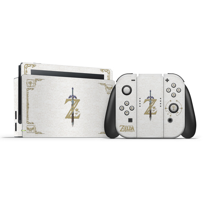 BOTW White  The Legend of Zelda theme Nintendo Switch Skin Set