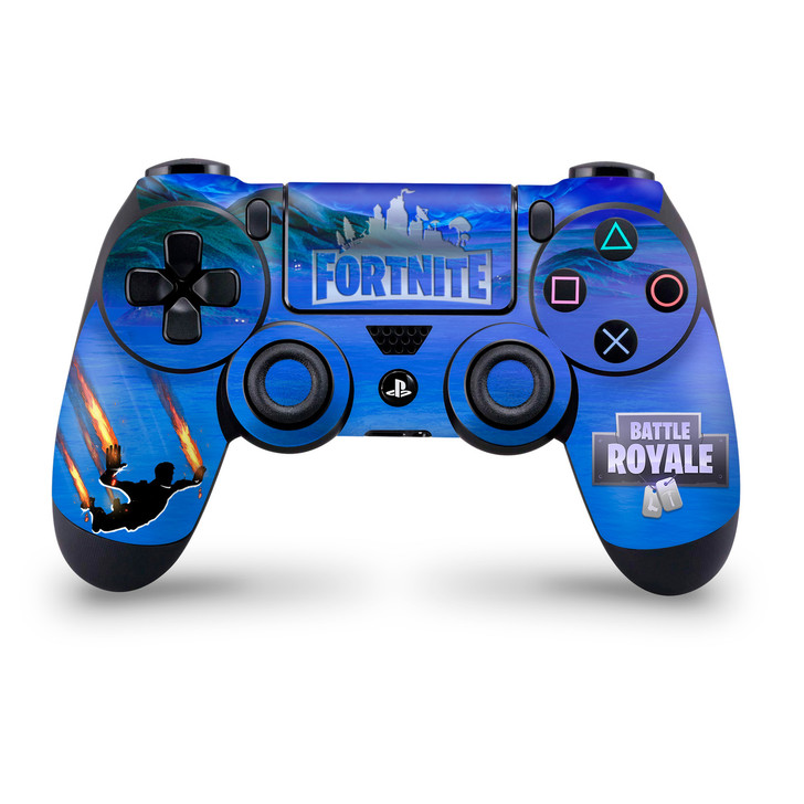 Stormy Sky V2 Flame Trails Playstation 4 Controller Skin Fortnite Fan Art