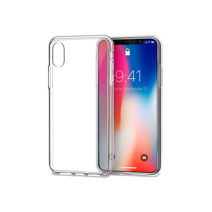iPhone X Crystal Clear  Soft Gel TPU Flexible Case