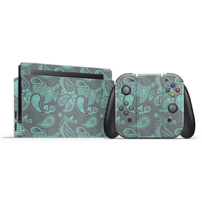 Cool Grey Paisley Switch Skin