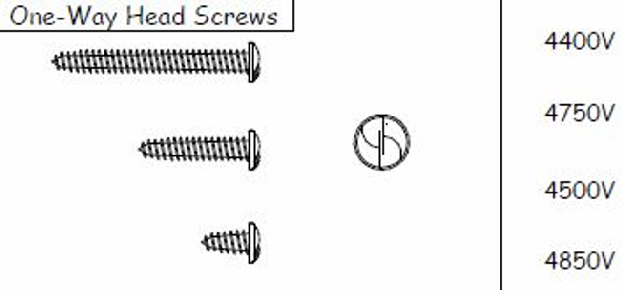 """Pan Head Screw (Discontinued) 4400V 14 X 1/2""""  Limited Supply"""