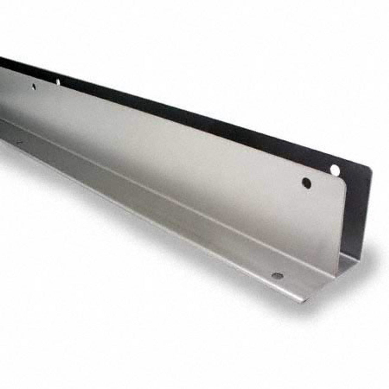 """54"""" x 1"""" Stainless Steel Continuous L-Bracket (6060SS)"""