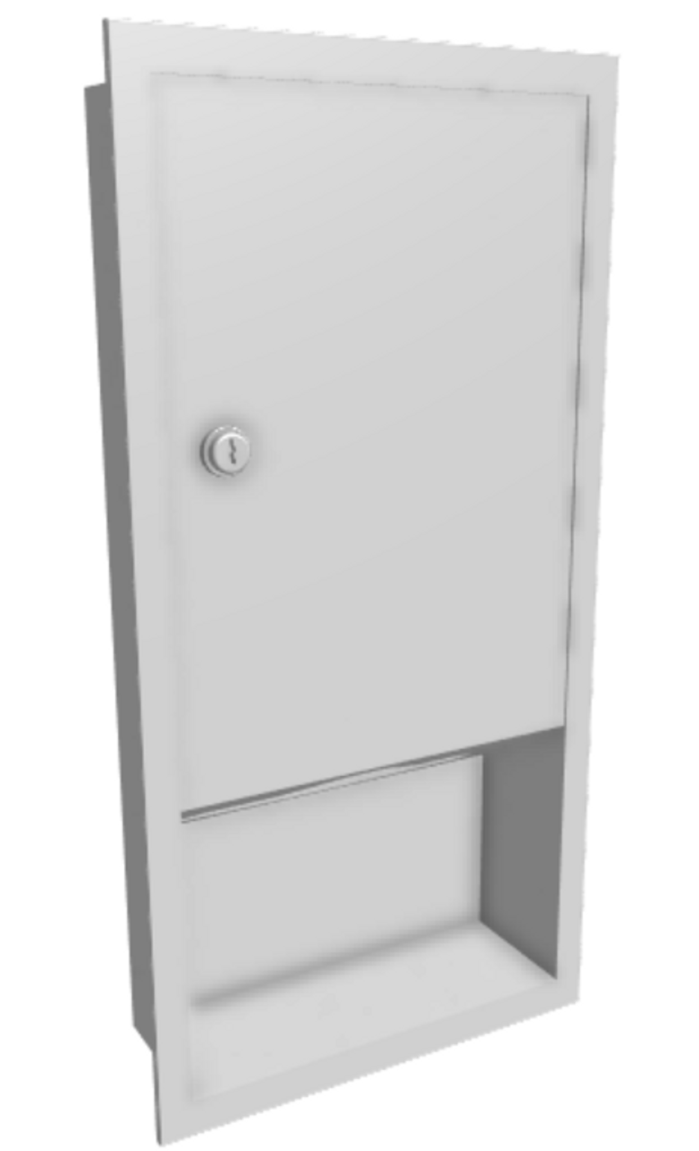 Recessed Paper Towel Dispenser SS (GP-206)