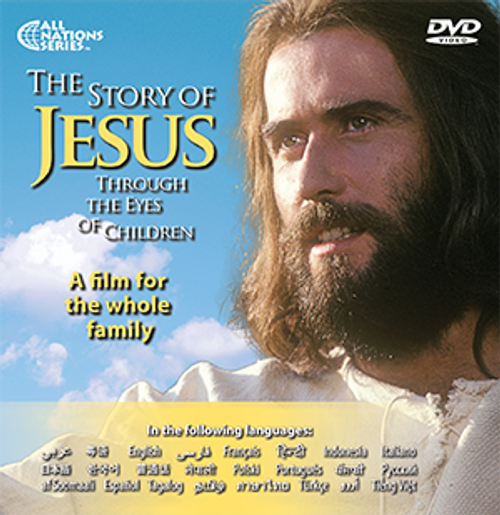 50 Story of Jesus Through the Eyes of Children Quick Sleeve DVDs