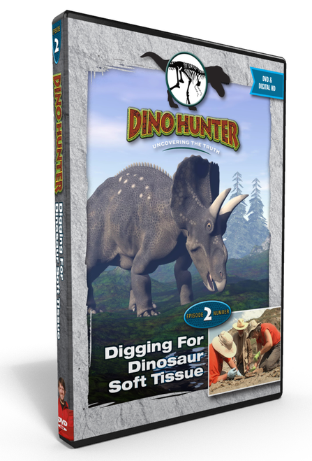 "Dino Hunter ""DIGGING FOR SOFT DINOSAUR TISSUE"" Episode 2 DVD"