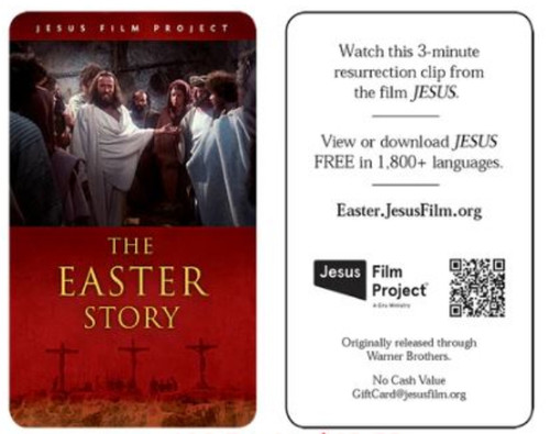 THE EASTER STORY GIFT CARD CHOOSE QUANTITY 100-250-500-1000