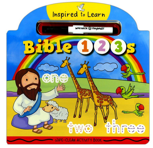 Wipe-Clean Activity Book - Bible 123s (Inspired to Learn Series) Age 2-6
