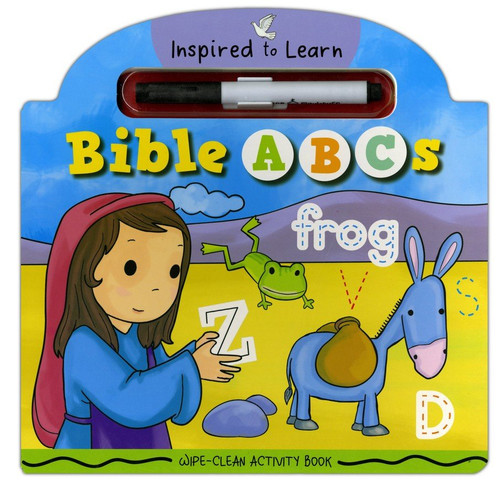 Wipe-Clean Activity Book - Bible ABCs (Inspired to Learn Series) Age 2-6