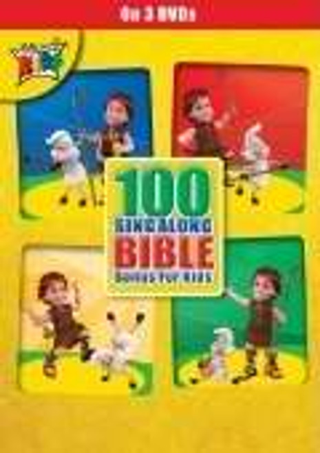 100 Singalong Bible Songs for Kids 3 DVDs