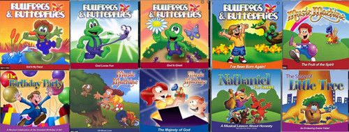 10 -  BULLFROGS AND MUSIC MACHINE CDS (INCLUDES FREE SHIPPING)