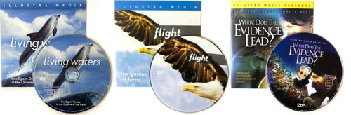 20 COMBO PACK - 5-FLIGHT, 5-LIVING WATERS, 5-ORIGINS + 5 JESUS FILM