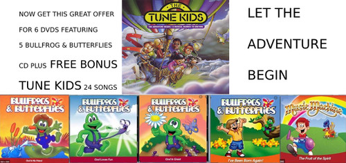 6 CD SET BULLFROGS AND TUNE KIDS