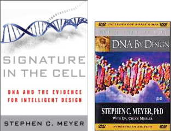 Signature in the Cell  Book & DNA by Design DVD Set