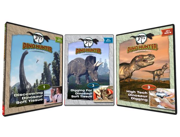 Dino Hunter DVD Set Episodes 1-3