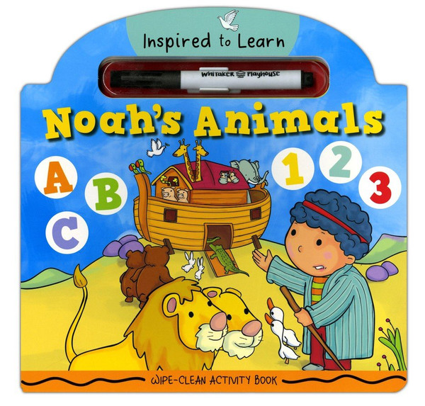 Wipe-Clean Activity Book - Noahs Animals (Inspired to Learn Series) Age 2-6