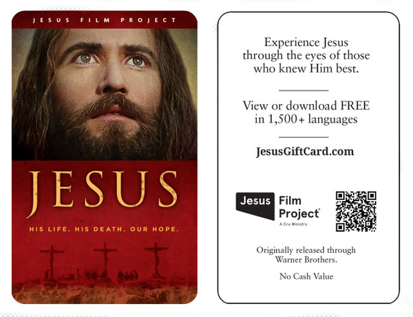 """Jesus"" Film Cards in English (100 Pack)"