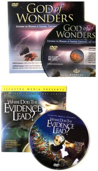 COMBO PAC - 10 - GOD OF WONDERS AND 10 - WHERE DOES THE EVIDENCE LEAD