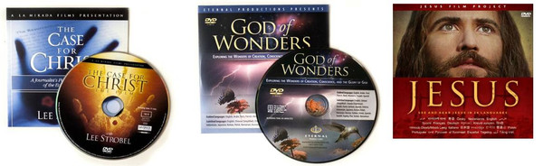 EASTER SPECIAL --- 5 God Of Wonders + 5 Case for Christ + 10 Jesus films + 25 Free Easter Gift cards (FREE SHIPPING)