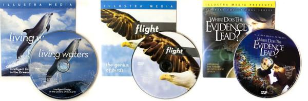 20 COMBO PACK - 5-FLIGHT, 5-LIVING WATERS, 5-ORIGINS + 5 JESUS FILM