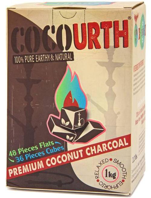 CocoUrth Organic Coconut Charcoal (84 Pieces -Split Box)