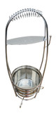 Large Yahya Charcoal Carrier - Stainless steel