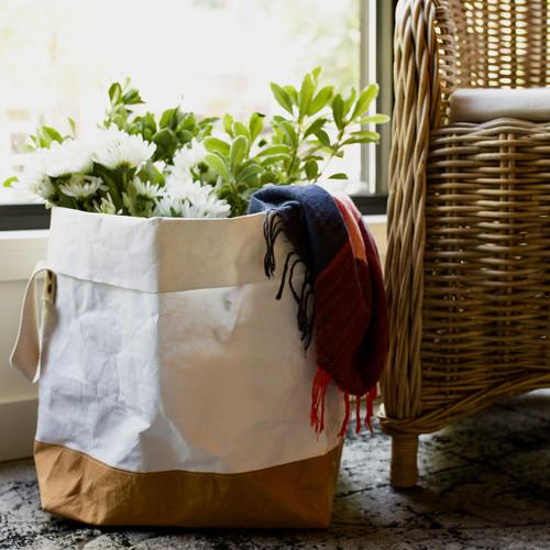 Two-Tone Jumbo Shortie Paper Bag
