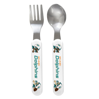 Miami Dolphins Spoon & Fork Set