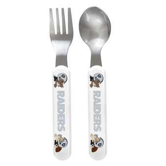 Oakland Raiders Spoon & Fork Set