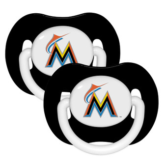 Miami Marlins Pacifier with Handle - 2-Pack