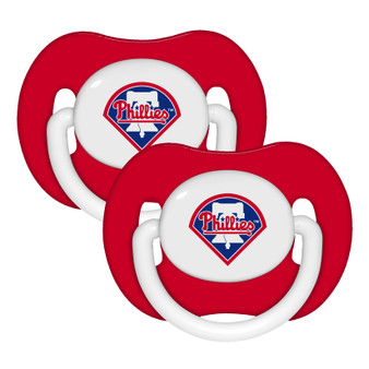 Philadelphia Phillies Pacifier with Handle - 2-Pack