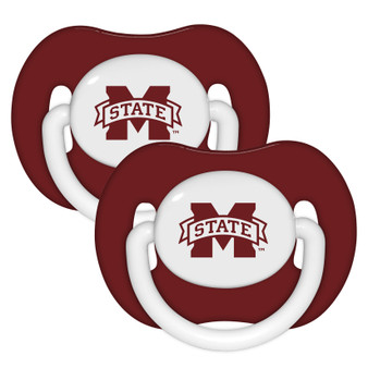 Mississippi State Pacifier with Handle - 2-Pack