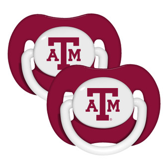 Texas A & M Pacifier with Handle - 2-Pack