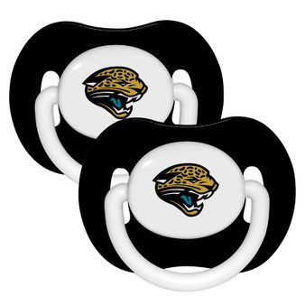 Jacksonville Jaguars Pacifier with Handle - 2-Pack