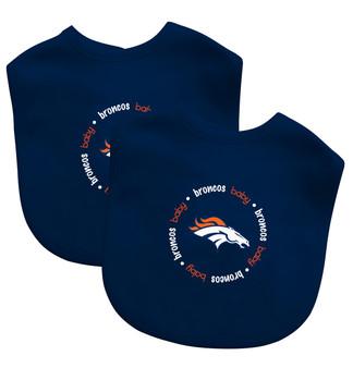 Denver Broncos 2-Pack Bibs