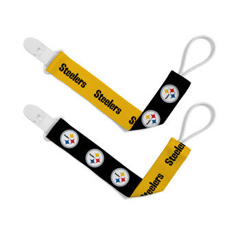 Pittsburgh Steelers 2-Pack Pacifier Clips