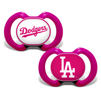 Los Angeles Dodgers 2-Pack Pink Pacifier