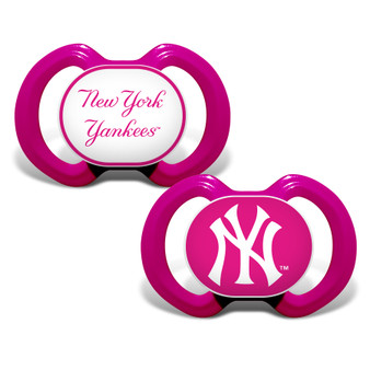 New York Yankees 2-Pack Pink Pacifier