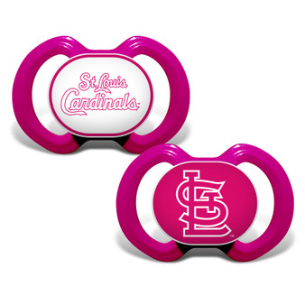 St. Louis Cardinals 2-Pack Pink Pacifier