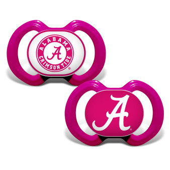 Alabama Crimson Tide 2-Pack Pink Pacifier