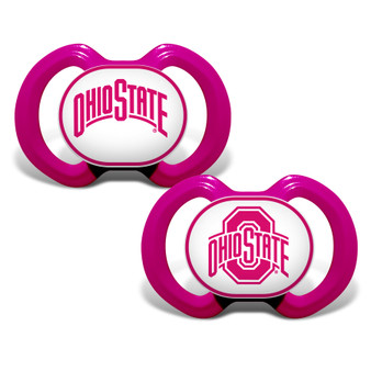 Ohio State 2-Pack Pink Pacifier