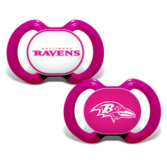 Baltimore Ravens 2-Pack Pink Pacifier