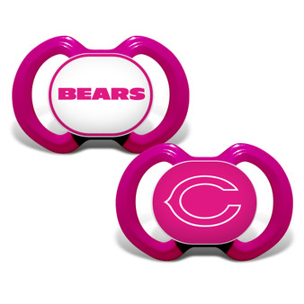 Chicago Bears 2-Pack Pink Pacifier