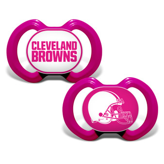 Cleveland Browns 2-Pack Pink Pacifier