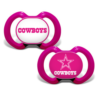 Dallas Cowboys 2-Pack Pink Pacifier