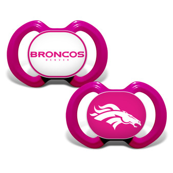 Denver Broncos 2-Pack Pink Pacifier