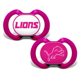 Detroit Lions 2-Pack Pink Pacifier
