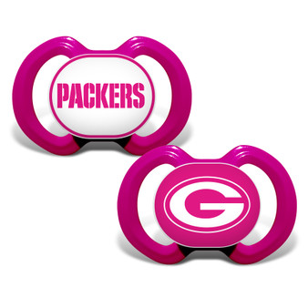 Green Bay Packers 2-Pack Pink Pacifier