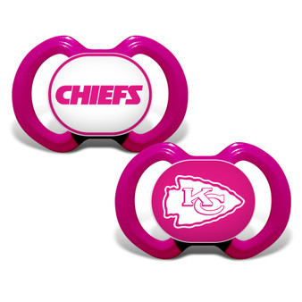 Kansas City Chiefs 2-Pack Pink Pacifier