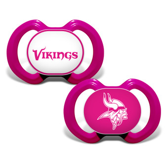Minnesota Vikings 2-Pack Pink Pacifier